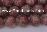 CBQ604 15.5 inches 12mm round natural strawberry quartz beads
