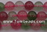 CBQ657 15.5 inches 8mm round mixed strawberry quartz beads