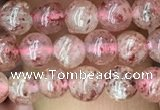 CBQ695 15.5 inches 4mm round strawberry quartz beads wholesale