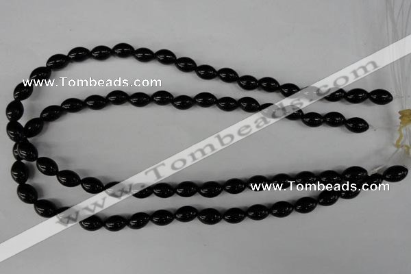 CBS201 15.5 inches 8*12mm rice blackstone beads wholesale
