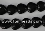 CBS231 15.5 inches 12*12mm heart blackstone beads wholesale