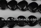 CBS305 15.5 inches 15*15mm faceted heart blackstone beads wholesale