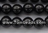 CBS501 15.5 inches 8mm round A grade black spinel beads