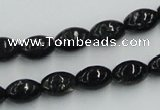 CBT05 16 inches 8*12mm rice natural biotite beads wholesale