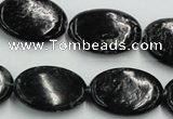 CBT10 16 inches 18*25mm oval natural biotite beads wholesale