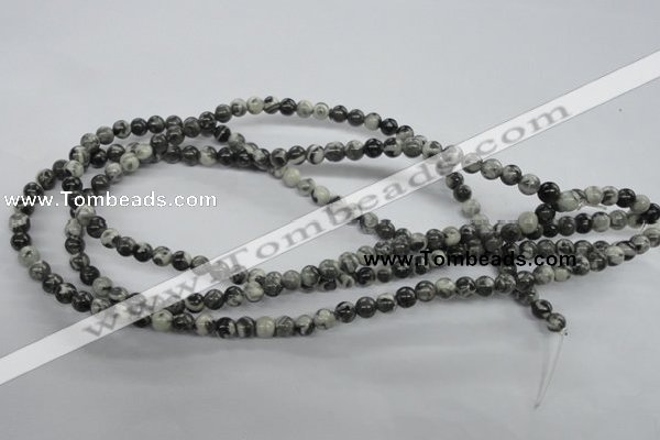 CBW01 15.5 inches 6mm round black & white jasper gemstone beads