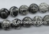 CBW03 15.5 inches 12mm round black & white jasper gemstone beads