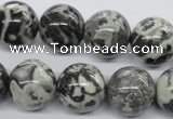 CBW04 15.5 inches 16mm round black & white jasper gemstone beads