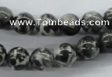 CBW06 15.5 inches 10mm round black & white jasper gemstone beads