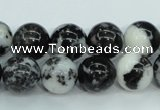 CBW104 15.5 inches 12mm round black & white jasper beads