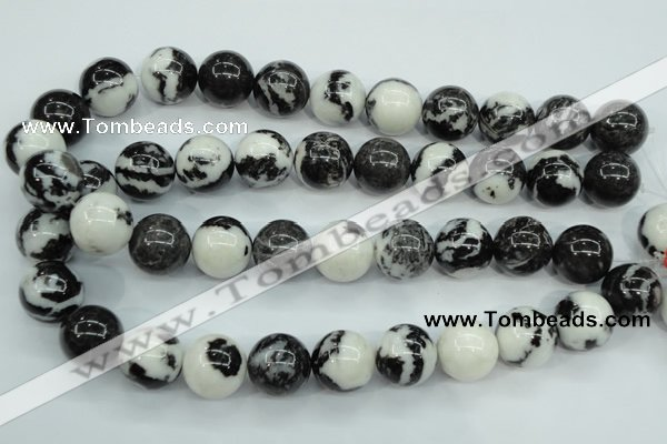 CBW107 15.5 inches 18mm round black & white jasper beads