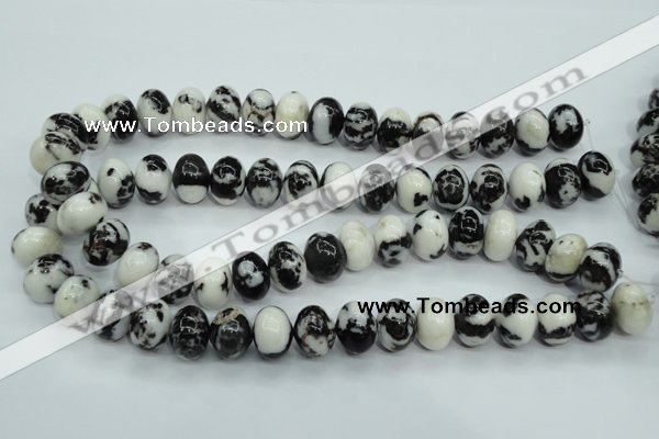 CBW115 15.5 inches 12*16mm rondelle black & white jasper beads