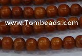 CBW501 15.5 inches 6mm round bayong wood beads wholesale