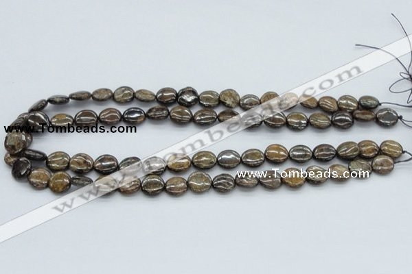 CBZ01 15.5 inches 12mm flat round bronzite gemstone beads wholesale