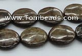 CBZ03 15.5 inches 18mm flat round bronzite gemstone beads wholesale