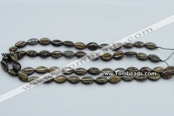 CBZ08 15.5 inches 10*15mm horse eye bronzite gemstone beads wholesale