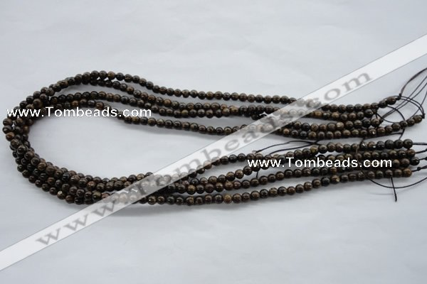 CBZ100 15.5 inches 4mm round bronzite gemstone beads