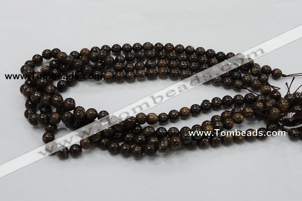 CBZ101 15.5 inches 6mm round bronzite gemstone beads