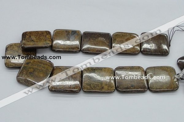 CBZ11 15.5 inches 35*35mm square bronzite gemstone beads wholesale