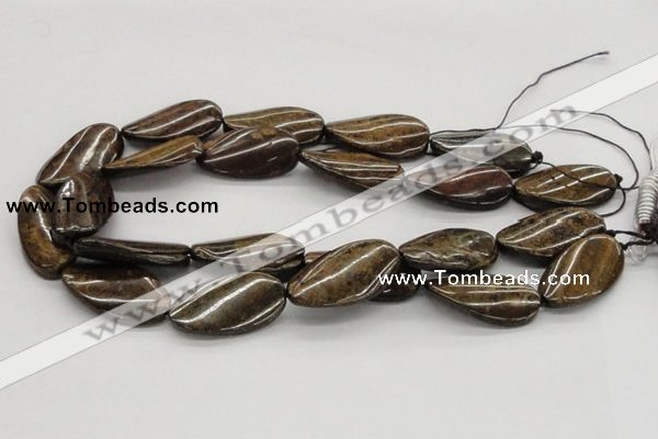 CBZ16 15.5 inches 18*35mm twisted oval bronzite gemstone beads