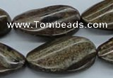CBZ17 15.5 inches 20*35mm twisted oval bronzite gemstone beads