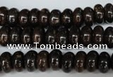 CBZ203 15.5 inches 6*10mm rondelle bronzite gemstone beads