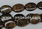 CBZ218 15.5 inches 12*16mm oval bronzite gemstone beads