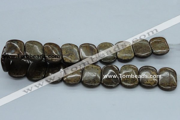 CBZ22 15.5 inches 20*30mm rectangle double drilled bronzite beads