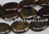 CBZ220 15.5 inches 15*20mm oval bronzite gemstone beads