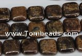 CBZ226 15.5 inches 12*12mm square bronzite gemstone beads
