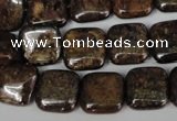 CBZ227 15.5 inches 14*14mm square bronzite gemstone beads