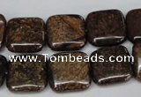 CBZ228 15.5 inches 16*16mm square bronzite gemstone beads