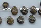 CBZ23 15.5 inches 10*15mm flat teardrop bronzite gemstone beads