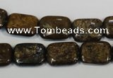 CBZ236 15.5 inches 12*16mm rectangle bronzite gemstone beads