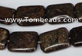 CBZ238 15.5 inches 15*20mm rectangle bronzite gemstone beads