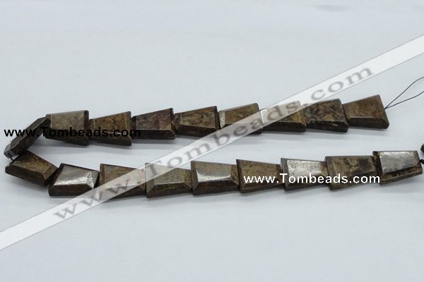 CBZ24 15.5 inches 18*24mm trapezoid bronzite gemstone beads