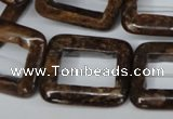 CBZ250 15.5 inches 25*30mm rectangle bronzite gemstone beads