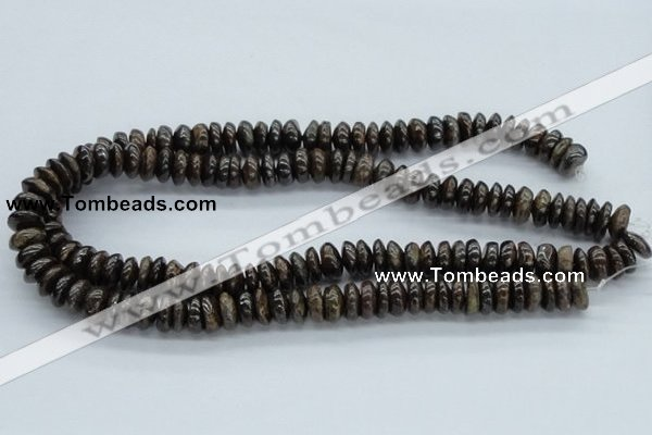 CBZ29 15.5 inches 6*12mm rondelle bronzite gemstone beads wholesale