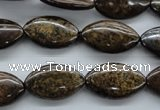 CBZ305 15.5 inches 12*20mm marquise bronzite gemstone beads wholesale