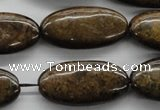CBZ308 15.5 inches 15*30mm oval bronzite gemstone beads wholesale