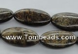 CBZ31 15.5 inches 14*28mm marquise bronzite gemstone beads wholesale