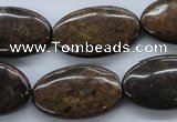 CBZ310 15.5 inches 18*30mm oval bronzite gemstone beads wholesale