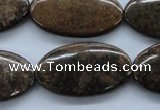CBZ311 15.5 inches 19*34mm oval bronzite gemstone beads wholesale