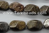 CBZ325 15.5 inches 12*17mm faceted oval bronzite gemstone beads