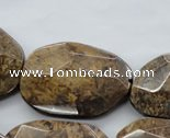 CBZ327 15.5 inches 20*30 � 30*40mm faceted freeform bronzite beads