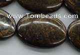 CBZ35 15.5 inches 25*35mm oval bronzite gemstone beads wholesale