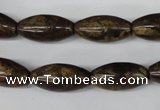 CBZ406 15.5 inches 10*20mm rice bronzite gemstone beads