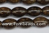 CBZ409 15.5 inches 13*18mm rice bronzite gemstone beads