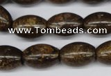 CBZ410 15.5 inches 15*20mm rice bronzite gemstone beads
