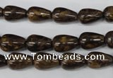 CBZ411 15.5 inches 8*12mm teardrop bronzite gemstone beads